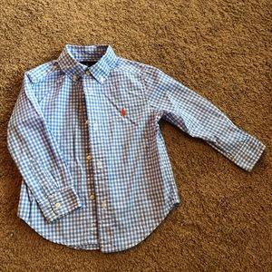 Ralph Lauren boys checkered button up shirt